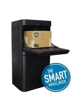 Black Floor Mount Smart Parcel Security Mailbox by Danby Parcel Guard