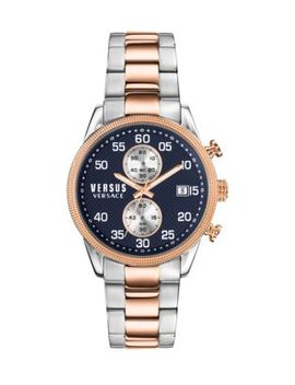 Shoreditch Two Tone Stainless Steel Bracelet Chronograph Watch by Versus Versace