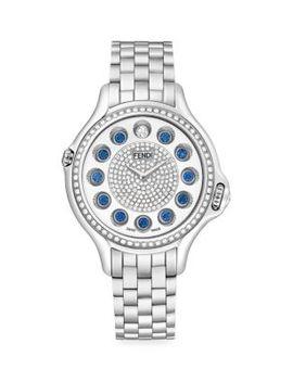 Crazy Carats Diamond, Sapphire & Stainless Steel Bracelet Watch by Fendi
