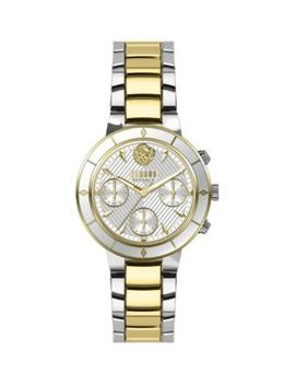 Harbor Heights Two Tone Stainless Steel Bracelet Chronograph Watch by Versus Versace