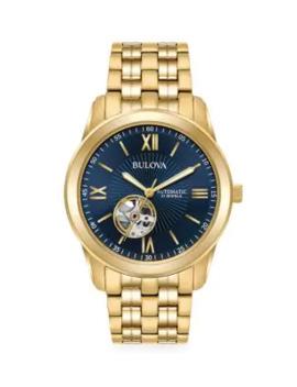 Automatic Stainless Steel Bracelet Watch by Bulova