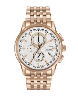 Eco Drive Stainless Steel World Chronograph A T Bracelet Watch by Citizen