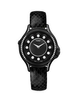 Crazy Carats Topaz, Diamond, Stainless Steel & Python Strap Watch by Fendi