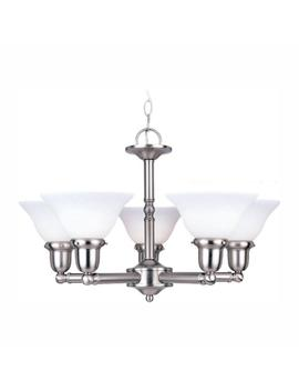 Sussex 5 Light Brushed Nickel Chandelier by Sea Gull Lighting