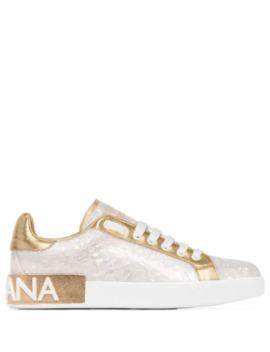 Portofino Pearl Low Top Sneakers by Dolce & Gabbana