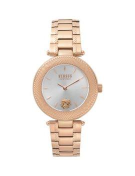 Rose Goldtone Stainless Steel Bracelet Watch by Versus Versace