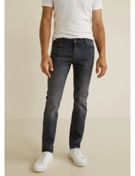 Jeans Tim Slim Fit Grises by Mango