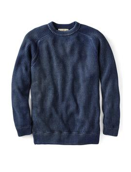 Azul Verdadero Peruvian Shaker Sweater by Metrostyle