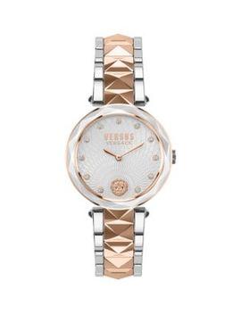 Two Tone Stainless Steel & Swarovski Crystal Watch by Versus Versace