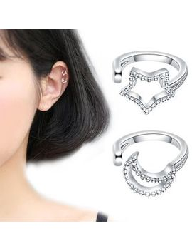Cat Soul   Star & Moon Ear Cuffs by Cat Soul