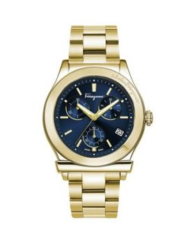 Goldtone Stainless Steel Chronograph Watch by Salvatore Ferragamo