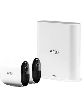 Pro 3 2 Camera Indoor/Outdoor Wire Free 2 K Hdr Security Camera System   White by Arlo