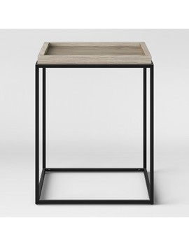 Bennington Mixed Material End Table   Threshold™ by Shop Collections