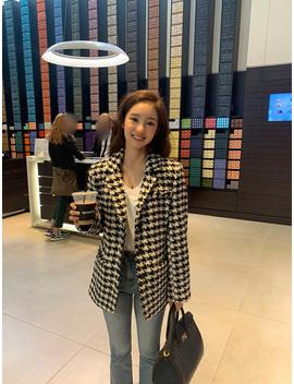 Monogram Wool Tweed Jacket (Wool 40%) by Chuu