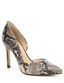Venicia Snake Print Leather D'orsay Pumps by Gianni Bini