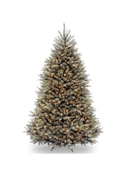 National Tree Company 7.5ft Dunhill Blue Fir Hinged Artificial Tree With 750 Clear Lights by National Tree Company