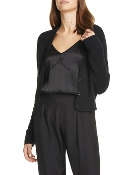 Openwork Back Crop Cashmere Cardigan by Atm Anthony Thomas Melillo