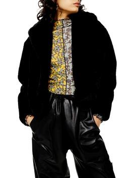 Faux Fur Crop Jacket by Topshop