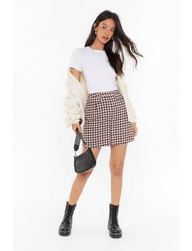 Just Checking In Mini Skirt by Nasty Gal