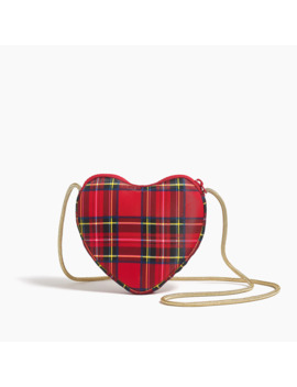 Girls' Heart Bag In Holiday Tartan by J.Crew