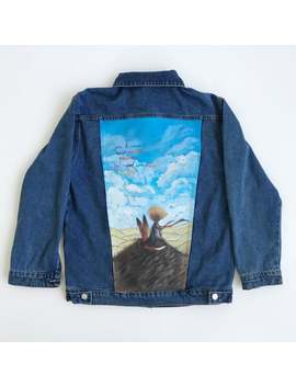Hand Painted Jacket | The Little Prince by Etsy