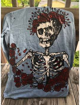 Custom Handpainted Denim Shirts Jackets by Etsy