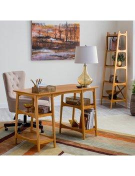 Belham Living Darby Mid Century Modern Desk   Pecan by Belham Living