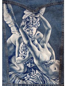 Sculpture Paintings On Denim, Hand Painted Jackets by Etsy