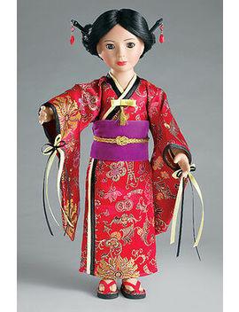 "Doll Clothes Slim 18\"" Carpatina Original Dress Japanese Kimono Fits 18\"" Dolls by Carpatina"