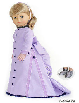 """Dress Lavender Carpatina Victorian Doll Clothes 18\"""" Fits American Girl Dolls by Carpatina"""