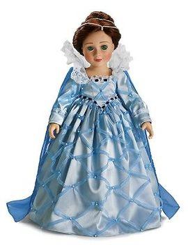 "Doll Clothes Slim 18\"" Carpatina Original Dress Elizabethan Blue Satin 18\"" Doll by Carpatina"