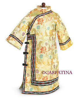 """18\"""" Doll Clothes Qing Dynasty Chinese Long Dress Fits American Girl Dolls by Carpatina"""