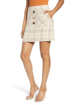 Plaid Miniskirt by J.O.A.