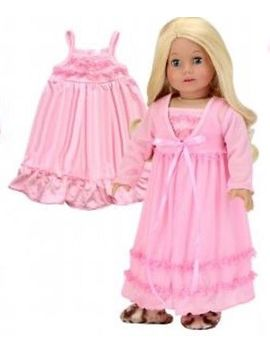 """Doll Clothes 18\"""" Nightgown Peignoir Light Pink Sophia's Fits American Girl Doll by Sophia's"""