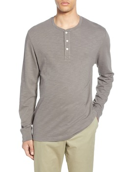 Slubbed Long Sleeve Henley by French Connection