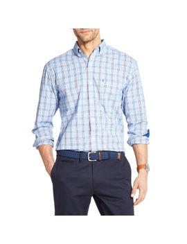 Izod Premium Essentials Mens Long Sleeve Plaid Button Front Shirt by Izod