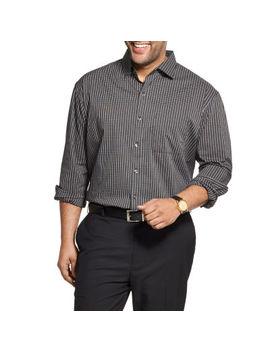 Van Heusen Big And Tall Mens Long Sleeve Cooling Plaid Button Front Shirt by Van Heusen