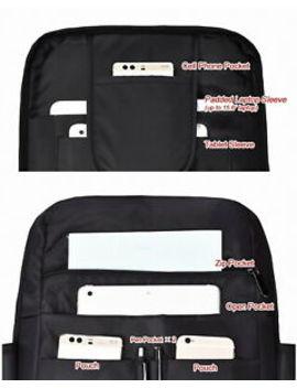 """Water Resistant Business Backpack 15.6"""" Laptop Bag Charging Port/ Bottle Pocket by Doorqu"""