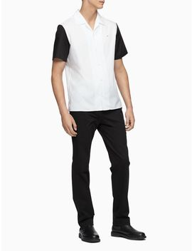 Classic Fit Colorblock Sleeve Short Sleeve Shirt by Calvin Klein