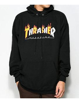 Thrasher Flame Magazine Black Hoodie by Zumiez