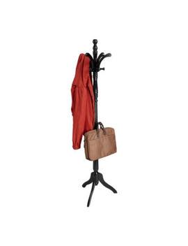 Mind Reader 11 Hook Solid Free Standing Wood Coat Rack, Entryway Coat Tree Hat Hanger Umbrella Holder by Mindreader