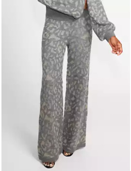 Grey Metallic Wide Leg Sweater Pant   Gabrielle Union Collection by New York & Company