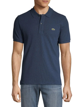 Short Sleeve Ribbed Collar Polo Shirt by Lacoste