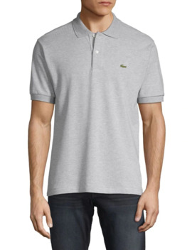 Short Sleeve Stripe Cotton Polo by Lacoste