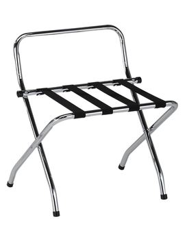 Chrome Luggage Rack With High Back by Ustech