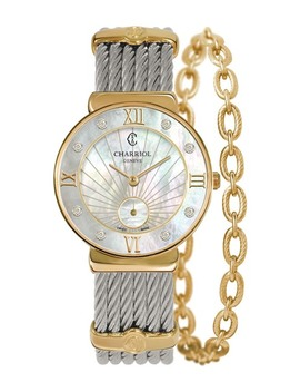 Women's Quartz Diamond Bracelet Watch, 30mm   0.05 Ctw by Charriol