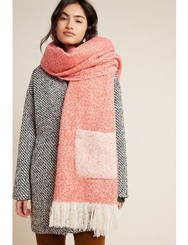 Pocketed Boucle Scarf by Anthropologie