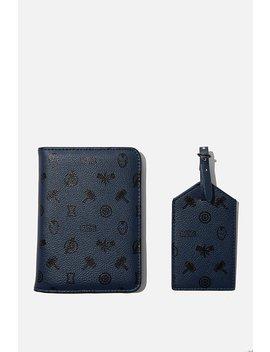 Marvel Rfid Passport & Luggage Tag Set by Cotton On