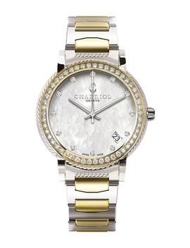 Women's Parsii Two Tone Diamond Watch, 33mm   0.06 Ctw by Charriol