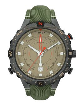 Allied® Tide Temp Compass With Intelligent Quartz® Technology 45mm Fabric Strap Watch by Timex